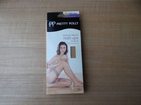 VINTAGE PRETTY POLLY 8 DENIER HOLD UPS STOCKINGS SIZE:- 1